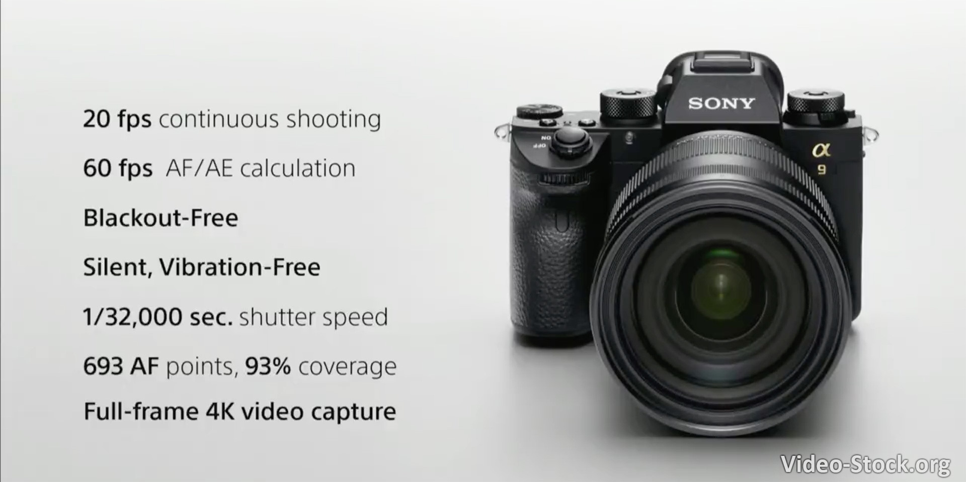 Announced Sony A9 is a DSLR killer camera with no 4K 60fps