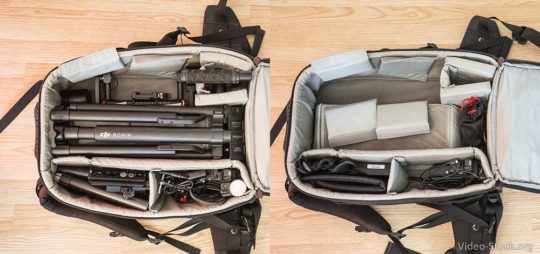 Lowepro Vortex 300 AW DJI Ronin-M backpack2