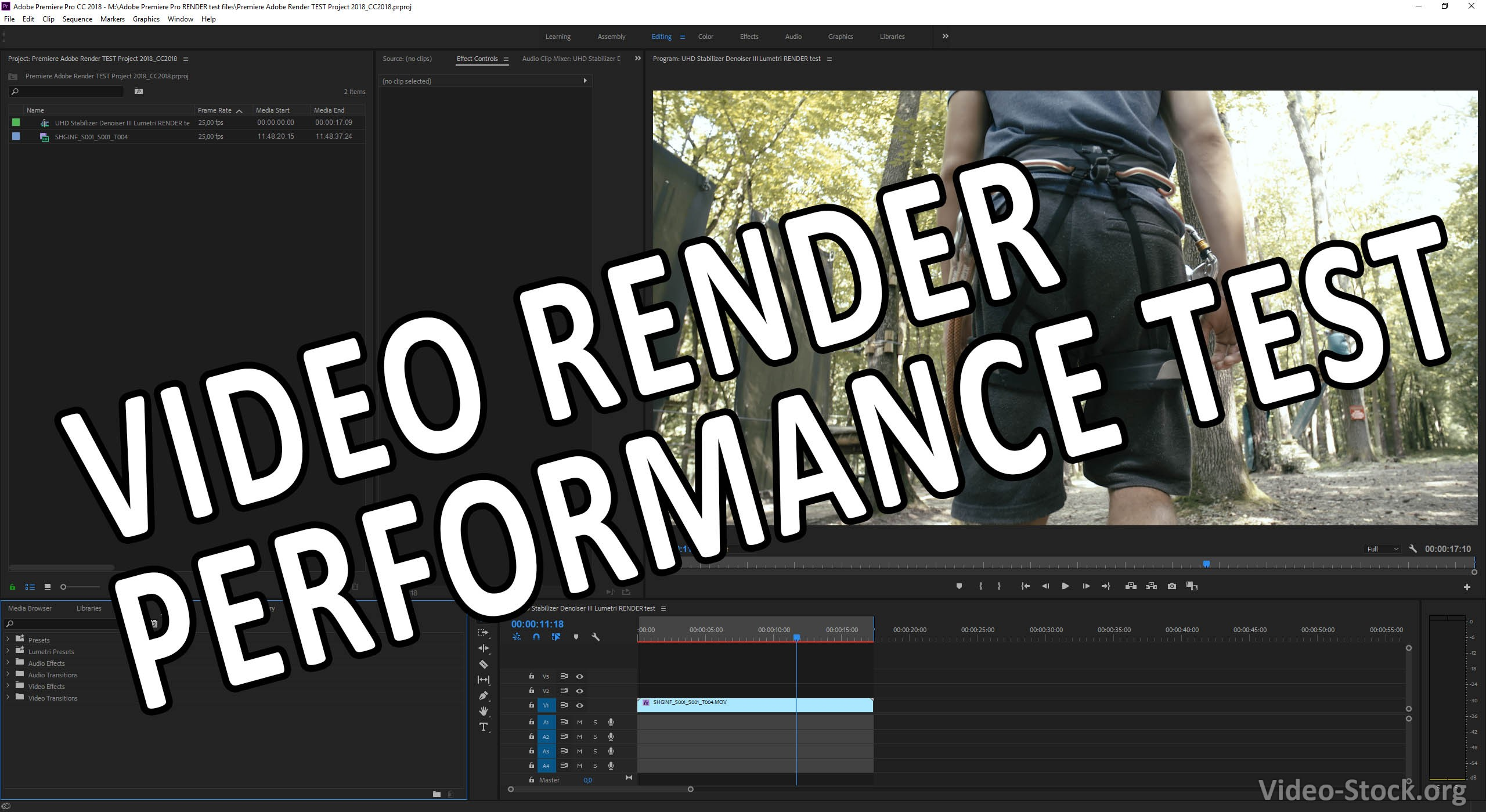 Test PC/MAC video rendering performance with defined Adobe Premiere